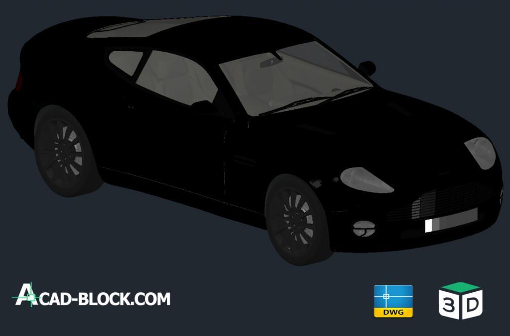 Aston Martin V12 Vanquish 3d dwg