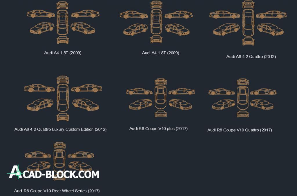 Audi cad blocks dwg free