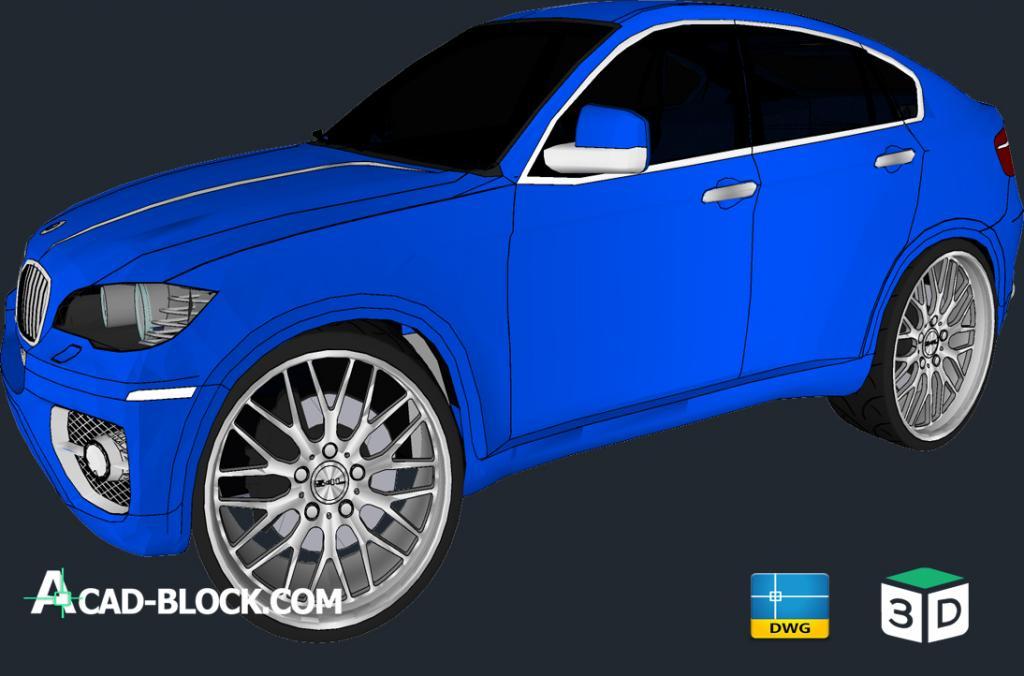 Autocad Bmw X6 3d Dwg Free Cad Model Car Cad