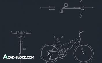 Bicycle drawing bike dwg