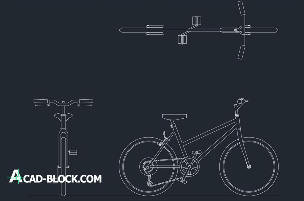 Bicycle drawing bike dwg