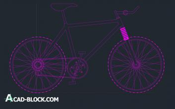 Cros bike cad dwg