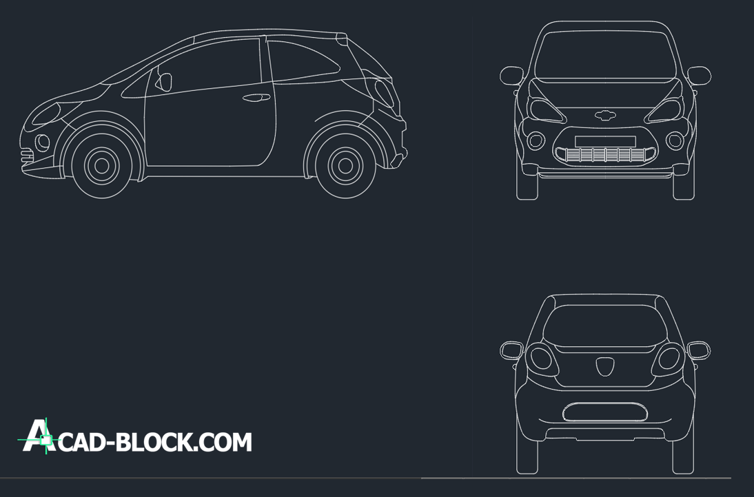 cad blocks Ford Ka DWG