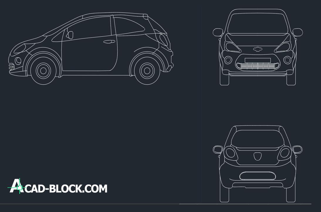 cad blocks Ford Ka DWG