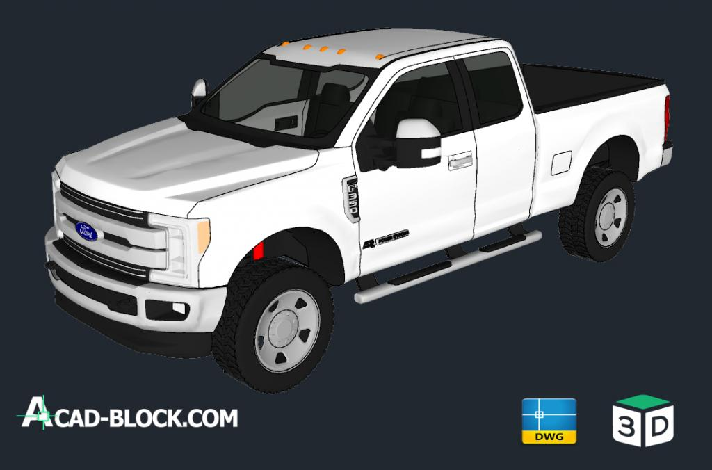Ford Extended Cab 3D 2017