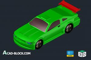 Ford mustang 3d