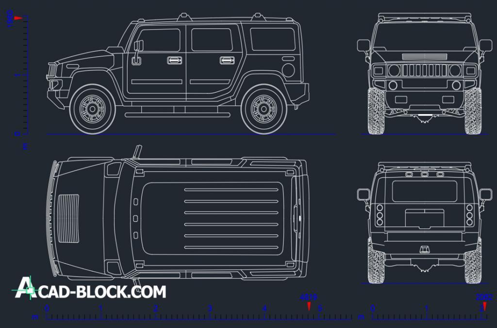 Hummer H2 CAD DWG free