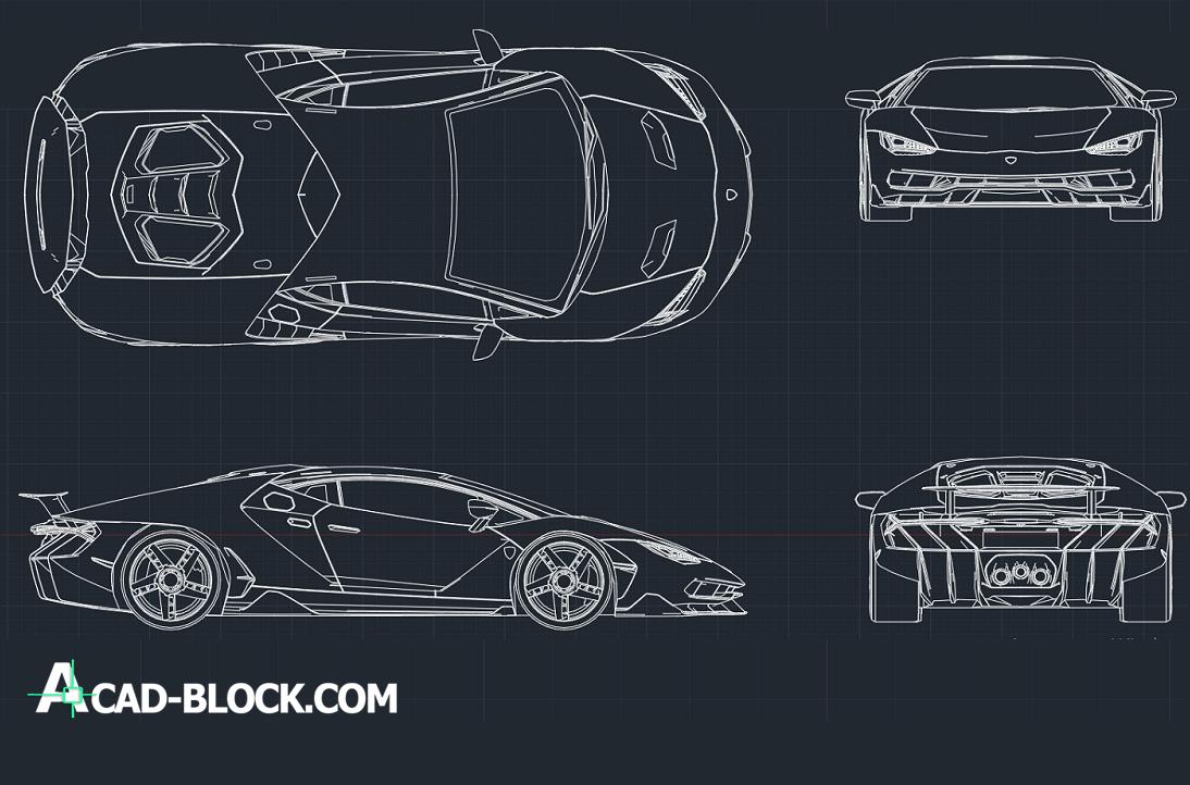 Lamborghini Centenario DWG - free cad block