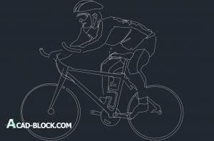 Man in bicycle dwg