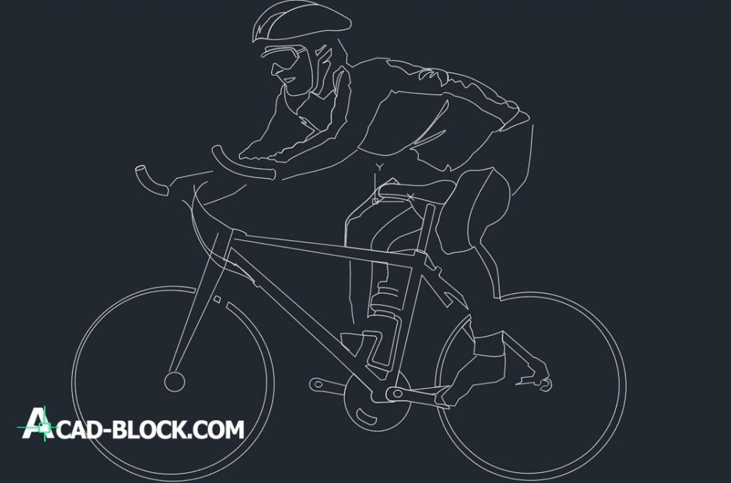 Man in bicycle dwg