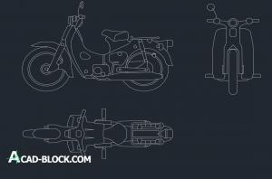 Motorcycle drawing Motoneta cad dwg
