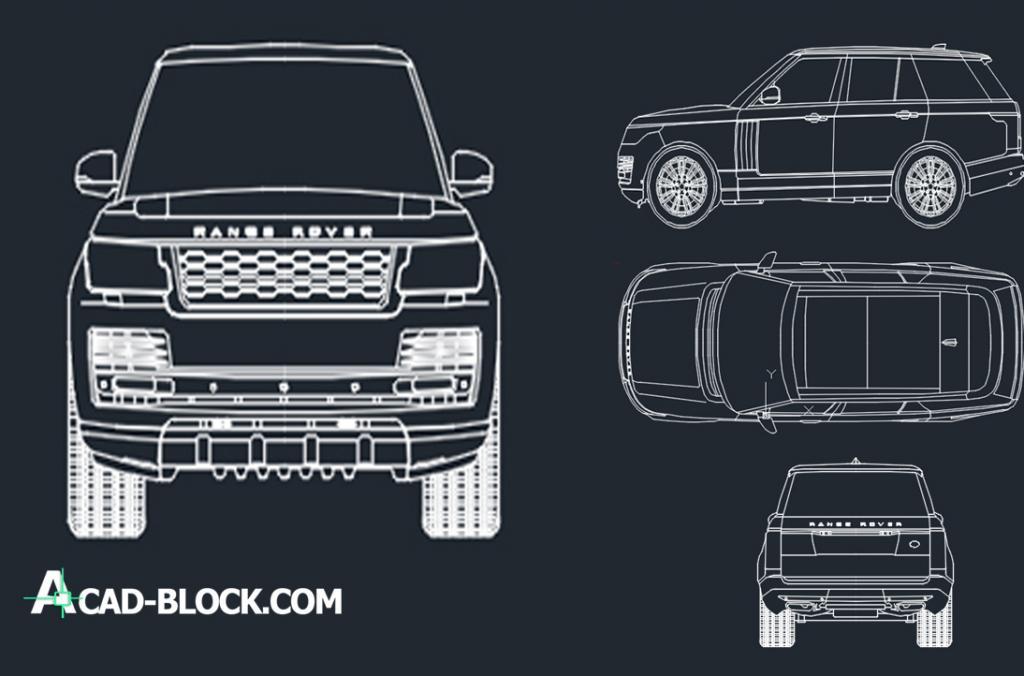 Range Rover 2018 cad dwg