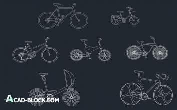 Bike cad block cad dwg