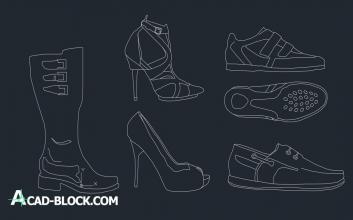 Shoes cad block free download DWG Library - Free