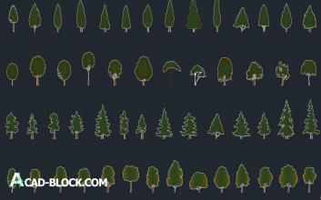 Simple trees dwg