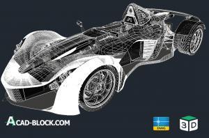 Sports car BAC MONO 3d