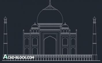 Taj-mahal Agra india dwg
