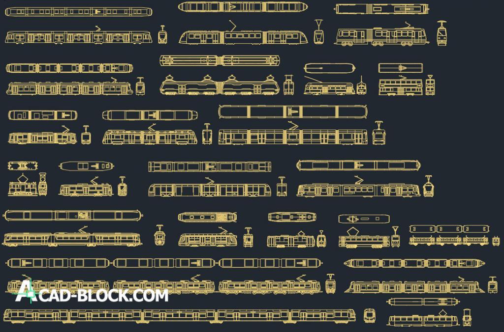 Tram CAD Block dwg free