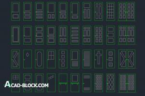 Types of door dwg CAD blocks