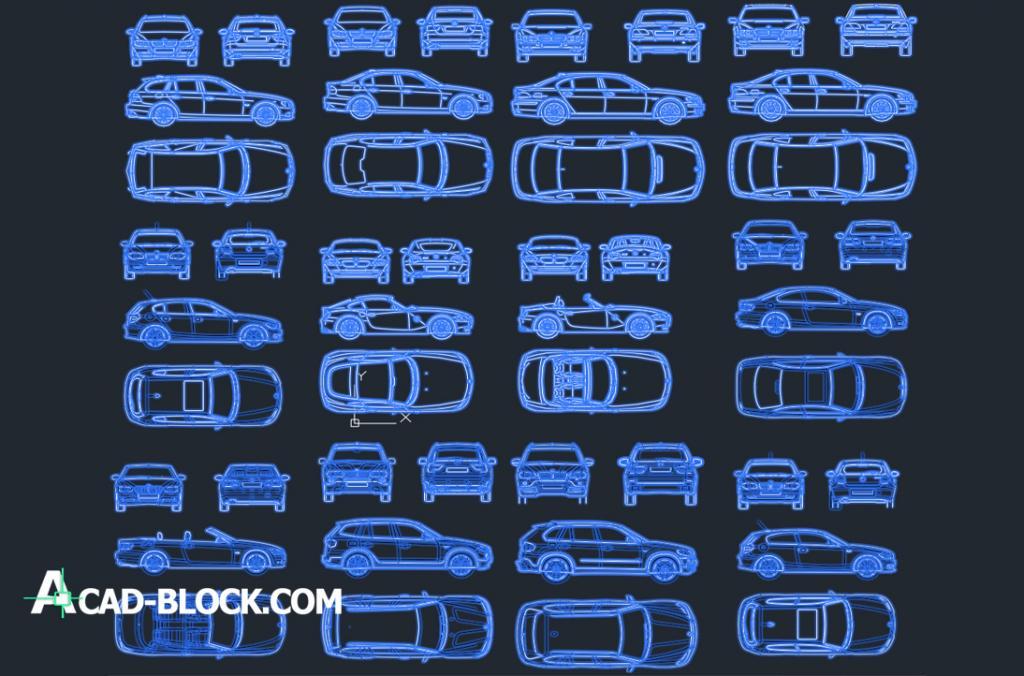 BMW Car Autos en vistas dwg