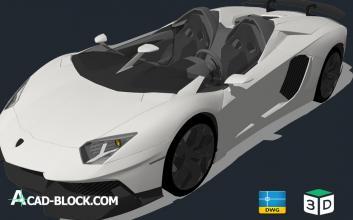 lamborghini cabrio 3D 2018 Pro