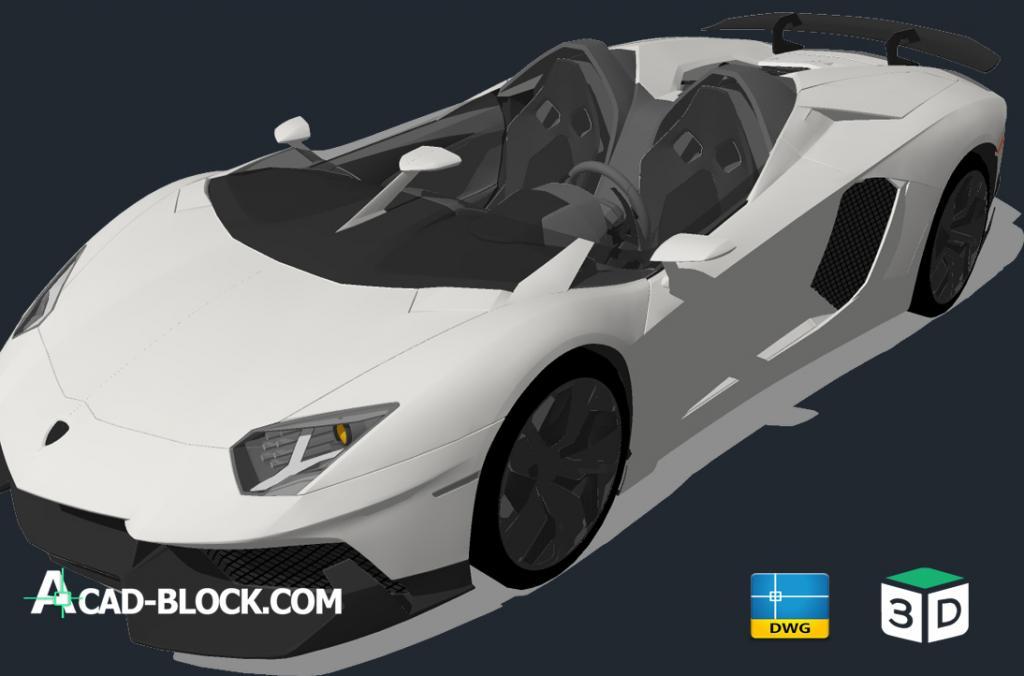 Cad Lamborghini Aventador 2018 3d Dwg Free Cad Model