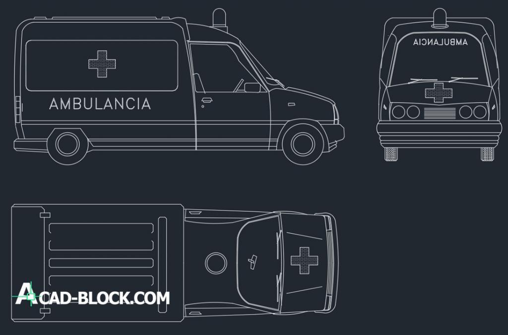 Ambulance dwg autocad