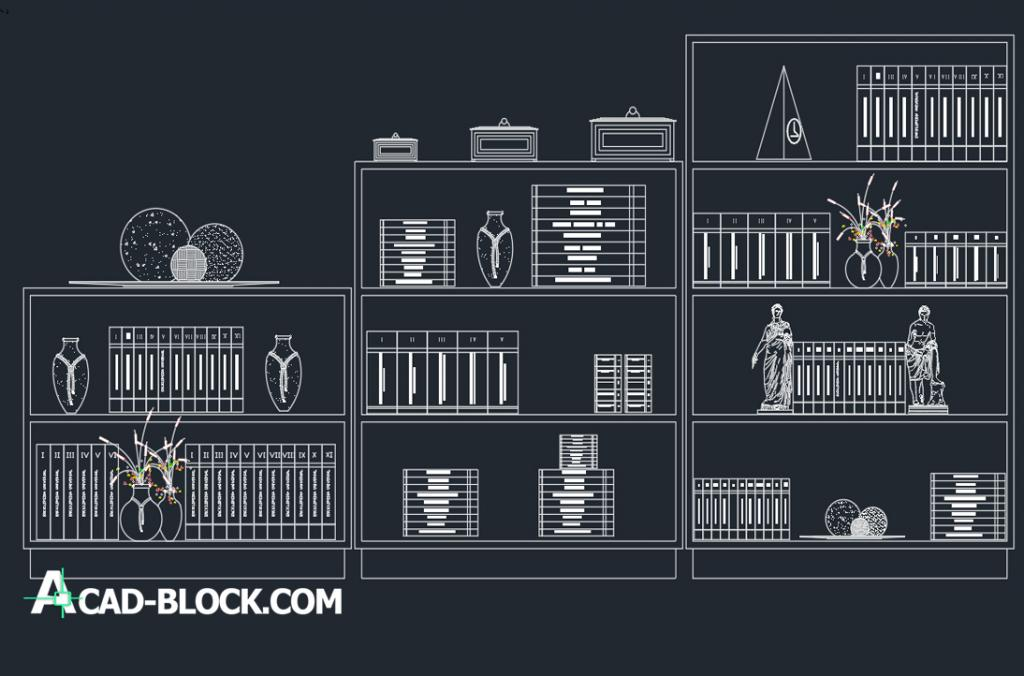 Bookcase view dwg