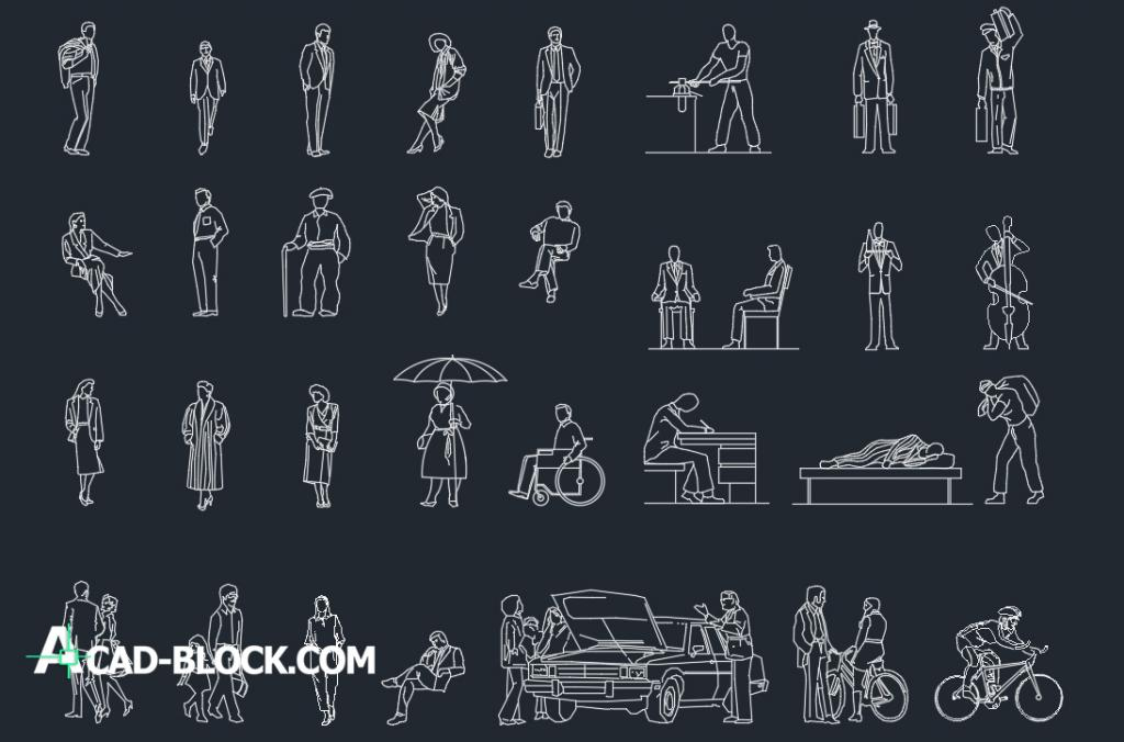Casual people dwg autocad