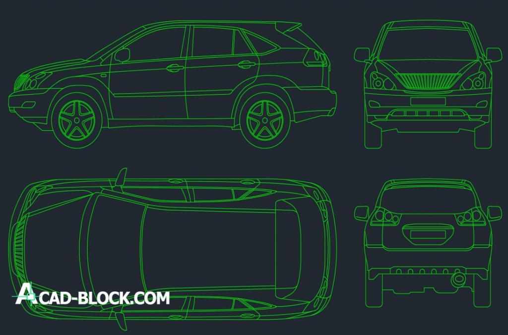 Lexus RX 300 dwg autocad