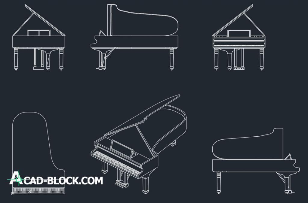Piano 2D dwg autocad