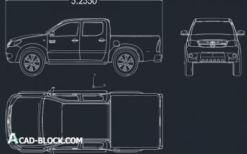 Toyota hilux 2014 dwg autocad