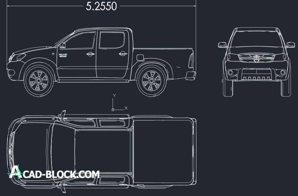 Toyota hilux 2014 – Free CAD Blocks – Autocad blocks free