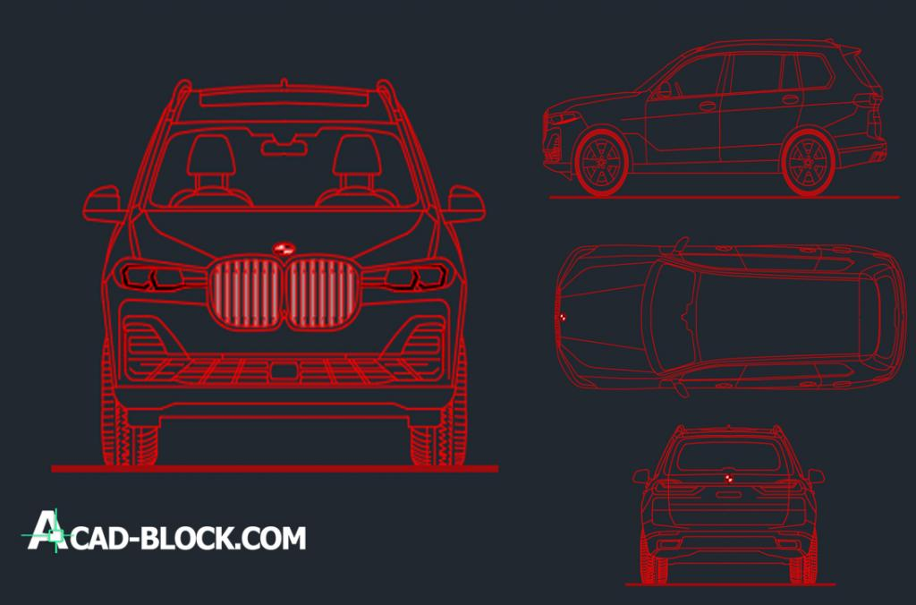 Cad Bmw X7 2019 Dwg Free Cad Blocks 2d In Autocad Free