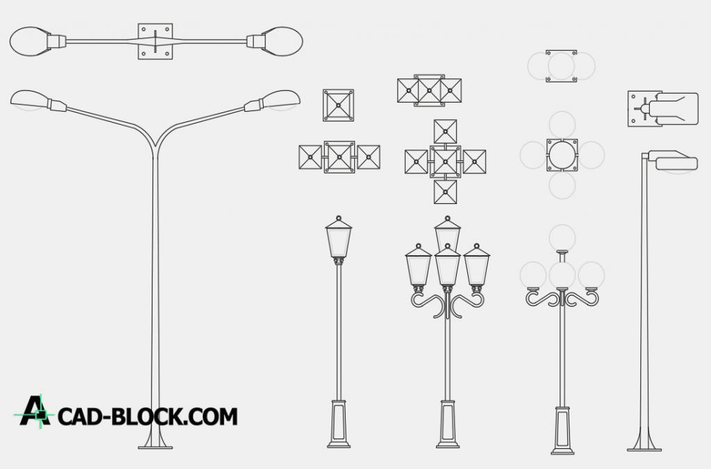 Lanterns 2d dwg autocad