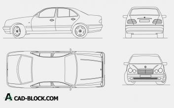 Mercedes Benz E220 dwg autocad