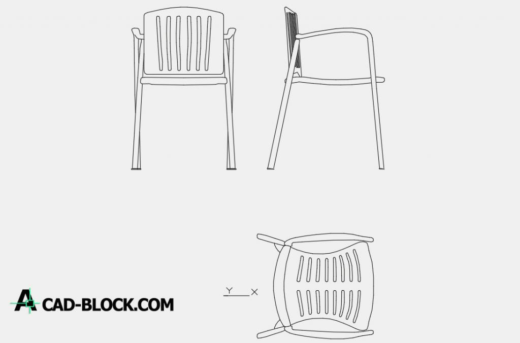 Plastic chair dwg