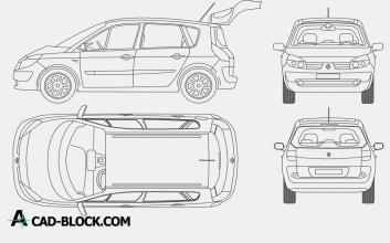 Renault Scenic dwg