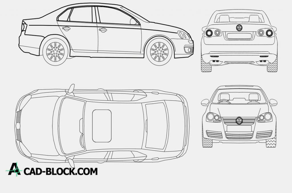 Volkswagen Bora dwg