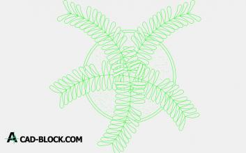 potted plant dwg autocad