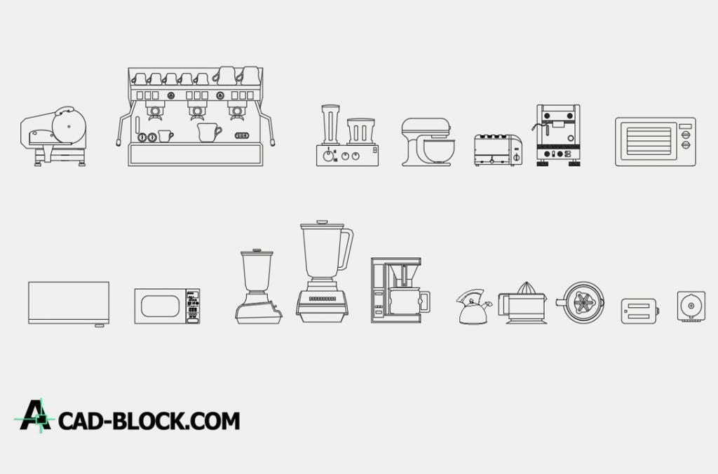 Appliances 2d dwg cad