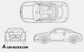 Audi TT dwg cad