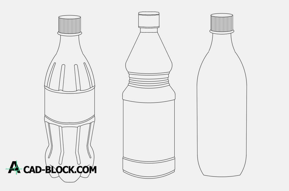 Bottles dwg cad