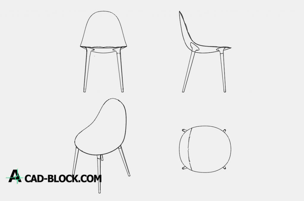 Chair file whim phillip stark dwg cad