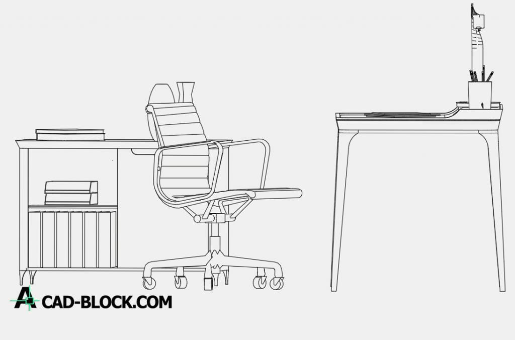 Admirable Desk Dwg Free Cad Block Cad Model Autocad Blocks Creativecarmelina Interior Chair Design Creativecarmelinacom