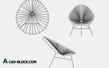 Silla Acapulco Chair dwg cad
