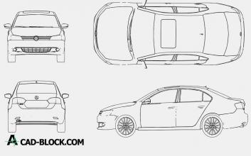 Volkswagen Jetta 2015 dwg cad