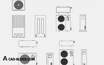 Air Conditioner LG dwg cad blocks