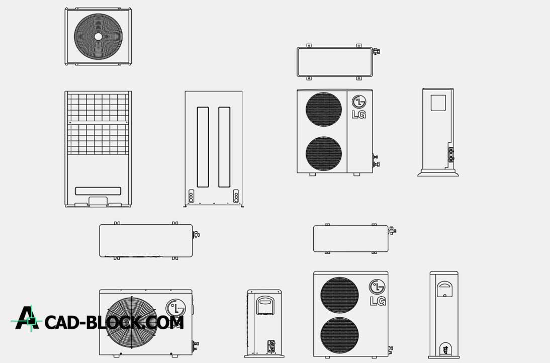 Air Conditioner LG dwg cad blocks