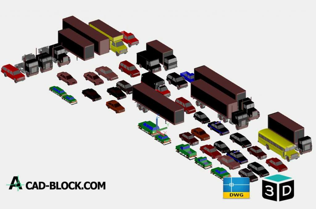 3D Vehicles Autocad Model DWG